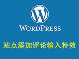 WordPress站点添加评论输入特效