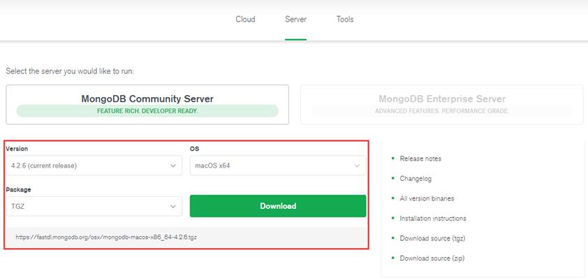 Mac OSX安装MongoDB
