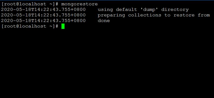 MongoDB 备份(mongodump)与恢复(mongorestore)