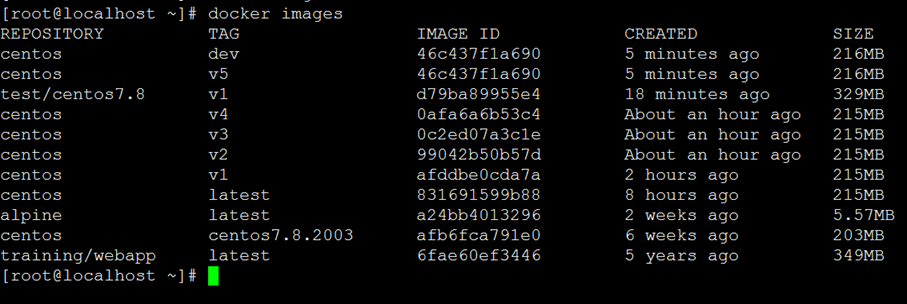 Docker 镜像使用