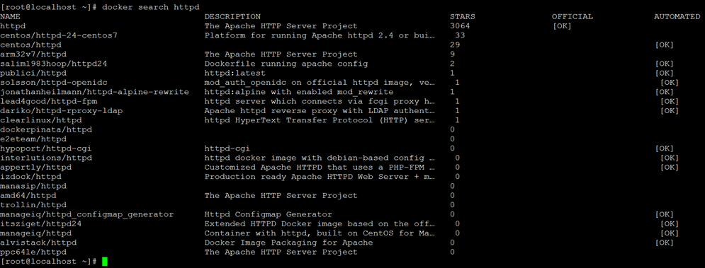 Docker 安装 Apache