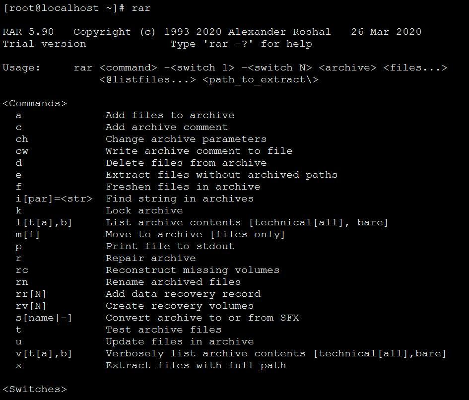 Linux下rar压缩包的解压方法
